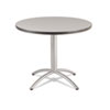 <strong>Iceberg</strong><br />CaféWorks Table, 36 dia x 30h, Gray/Silver