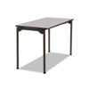 Maxx Legroom Rectangular Folding Table, 48w x 24d x 29-1/2h, Gray/Charcoal