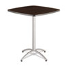 Iceberg CaféWorks Table, 36w x 36d x 42h, Walnut/Silver ICE65634