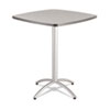 Iceberg CaféWorks Table, 36w x 36d x 42h, Gray/Silver ICE65631
