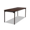 Iceberg Maxx Legroom Rectangular Folding Table, 72w x 30d x 29-1/2h, Walnut/Charcoal ICE65824