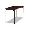 Maxx Legroom Rectangular Folding Table, 48w x 24d x 29-1/2h, Walnut/Charcoal