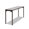 Maxx Legroom Rectangular Folding Table, 60w x 18d x 29-1/2h, Gray/Charcoal