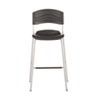 CaféWorks Bistro Stool, Blow Molded Polyethylene, Graphite/Silver