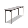 Maxx Legroom Rectangular Folding Table, 72w x 18d x 29-1/2h, Gray/Charcoal