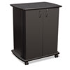"Mobile Utility Cart, 29-1/2""w x 20-3/4""d x 35-1/2""h, Black"