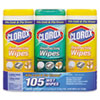 Clorox® Disinfecting Wipes, 7x8, Fresh Scent/Citrus Blend, 35/Canister, 3/PK, 5 Packs/CT CLO30112CT