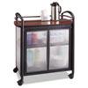 "Safco Impromptu Refreshment Cart - 440.92 lb Capacity - 4 Casters - 2.50"" Caster Size - Steel - 34""  SAF8966BL"