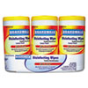 Boardwalk® Disinfecting Wipes, 8 x 7, Lemon Scent, 75/Canister, 3 Canisters/Pack, 4/Pks/Ct BWK355W753CT
