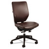 "Safco Sol Task Chairs - Vinyl Brown Seat - Steel Frame - 5-star Base - 19"" Seat Width x 19"" Seat Dep SAF7065BR"