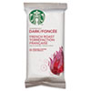 Starbucks® Coffee, French Roast, 2.5oz Bag, 18 Bags/Box SBK11018194
