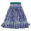 "<strong>Boardwalk®</strong><br />Super Loop Wet Mop Head, Cotton/Synthetic Fiber, 5"" Headband, Medium Size, Blue"