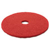 "Low-Speed Buffer Floor Pads 5100, 20"" Diameter, Red, 5/Carton"
