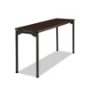 Iceberg Maxx Legroom Rectangular Folding Table, 60w x 18d x 29-1/2h, Walnut/Charcoal ICE65874