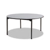 "Maxx Legroom Round Folding Table, 60"" Dia. x 29-1/2""h, Gray/Charcoal"