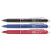 Pilot® FriXion Clicker Erasable Gel Ink Retractable Pen, Assorted Ink, .7mm, 3/Pack PIL31467