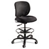 Safco® Vue Heavy-Duty Extended Height Stool, Fabric Seat, Nylon Mesh Back, Black SAF3394BL