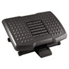 Kantek Premium Adjustable Footrest With Rollers, Plastic, 18w x 13d x 4h, Black KTKFR750