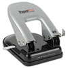 EZ Squeeze Two-Hole Punch, 40-Sheet Capacity, Black/Silver
