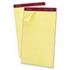 Ampad® Gold Fibre Pads, 8 1/2 x 14, Canary, 50 Sheets, Dozen TOP20030