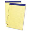 Ampad® Double Sheets Pad, Legal/Wide, 8 1/2 x 11 3/4, Canary, 100 Sheets TOP20243