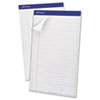 Ampad® Perforated Writing Pad, 8 1/2 x 14, White, 50 Sheets, Dozen TOP20330