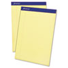 Ampad® Perforated Writing Pad, 8 1/2 x 11 3/4, Canary, 50 Sheets, Dozen TOP20222