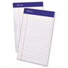 Ampad® Perforated Writing Pad, Narrow, 5 x 8, White, 50 Sheets, Dozen TOP20304