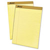 Ampad® Perforated Writing Pad, 8 1/2 x 11 3/4, Canary, 50 Sheets, Dozen TOP20220