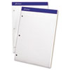 Ampad® Double Sheets Pad, Law Rule, 8 1/2 x 11 3/4, White, 100 Sheets TOP20345