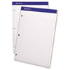 Ampad® Double Sheets Pad, College/Medium, 8 1/2 x 11 3/4, White, 100 Sheets TOP20323