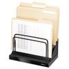 Fellowes® Step File, 6 Comp, Plastic/Steel, 11 1/8 x 7 1/8 x 10 1/2, Black Pearl FEL8038701