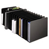 SteelMaster® Message Rack, 15-Compartment, Steel, 6 1/4 x 16 1/10 x 6 1/2, Black MMF26715MRVBK