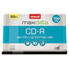 Maxell® CD-R Discs, 700MB/80min, 48x, Spindle, Silver, 50/Pack MAX648250