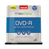 Maxell® DVD-R Discs, 4.7GB, 16x, Spindle, Gold, 100/Pack MAX638014