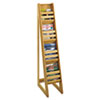 Safco® Bamboo Magazine/Pamphlet Floor Display, 10w x 18-1/4d x 56-1/2h, Natural SAF4622NA