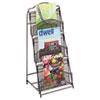 Safco® Onyx Magazine Floor Rack, 12-1/2w x 13d x 26-3/4h, Black SAF6460BL