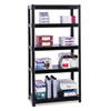 Boltless Steel Shelving, Five-Shelf, 36w x 24d x 72h, Black