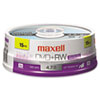 Maxell® DVD+RW Discs, 4.7GB, 4x, Spindle, Silver, 15/Pack MAX634046