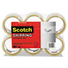 """Scotch® 3350 General Purpose Packaging Tape, 2.83"""" x 54.6yds, 3"""" Core, Clear, 6/Pack MMM3350XW6"""