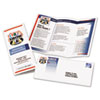 Avery® Tri-Fold Brochures for Inkjet Printers, 8 1/2 x 11, White, 100 Sheets/Box AVE8324