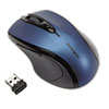 <strong>Kensington®</strong><br />Pro Fit Mid-Size Wireless Mouse, 2.4 GHz Frequency/30 ft Wireless Range, Right Hand Use, Sapphire Blue