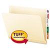 "Smead® Tuff Laminated End Tab Folder, 1/2 Cut Tab, 3/4"" Exp, Manila, Letter, 100/BX SMD24125"