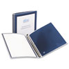 """Avery® Flexi-View Binder w/Round Rings, 11 x 8 1/2, 1/2"""" Cap, Navy Blue AVE15766"""