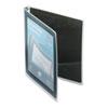 "Avery® Flexi-View Binder w/Round Rings, 11 x 8 1/2, 1/2"" Cap, Black AVE15767"