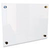 "Best-Rite® Enlighten Glass Board, Frameless, Frosted Pearl, 24"" x 18"" x 1/8"" BLT83949"