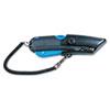 COSCO Box Cutter Knife w/Shielded Blade, Black/Blue COS091524