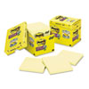 Post-it® Notes Super Sticky Canary Yellow Note Pads, Lined, 4 x 4, 90-Sheet, 12/Pack MMM67512SSCP