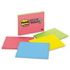 Post-it® Notes Super Sticky Super Sticky Meeting Notes in Rio de Janeiro Colors, 8 x 6, 45-Sheet, 4/ MMM6845SSP