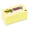 Post-it® Notes Super Sticky Canary Yellow Note Pads, 2 x 2, 90-Sheet, 10/Pack MMM62210SSCY